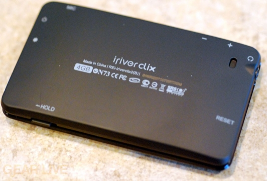 iriver clix Rhapsody - The Back