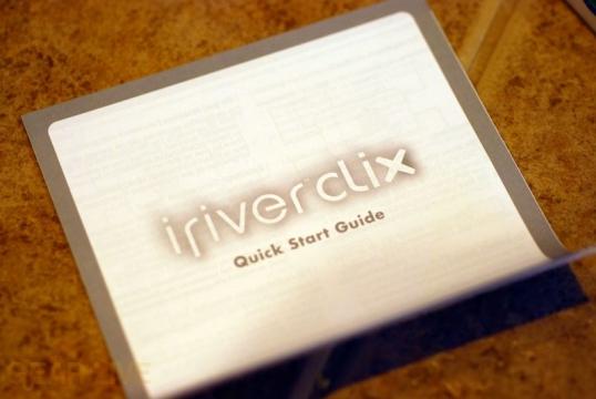 iriver clix Quick Start Guide