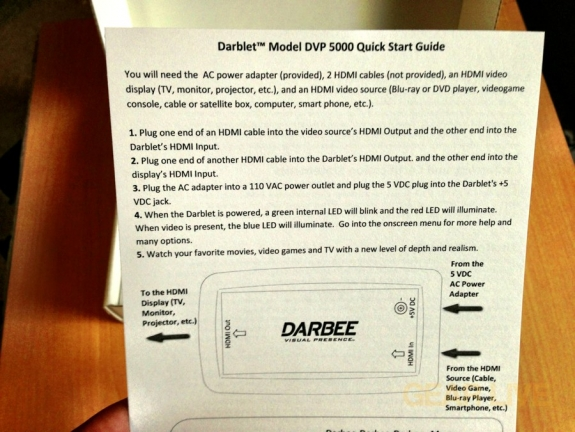Darbee Darblet Quick Start Guide