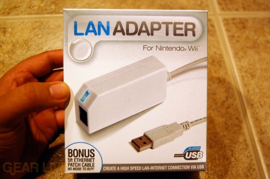 The Datel LAN Adapter for Nintendo Wii