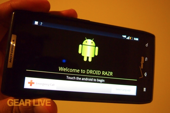 Droid RAZR set-up