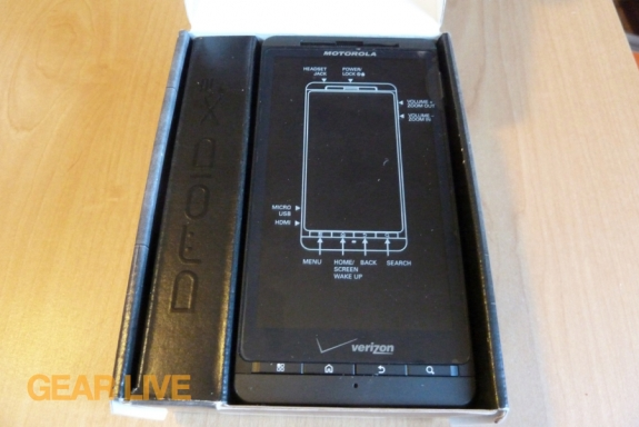Motorola Droid X2 in the box