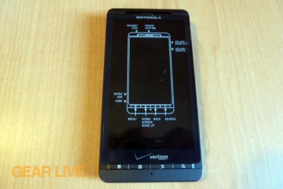 Motorola Droid X2 smartphone front