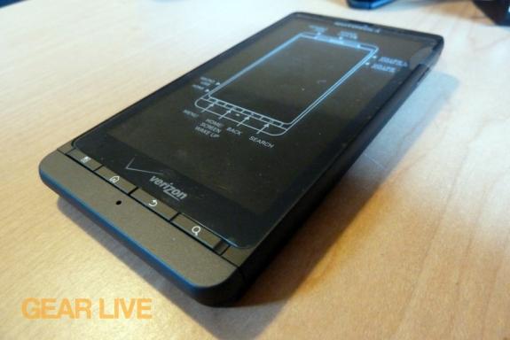 Motorola Droid X2 bottom right