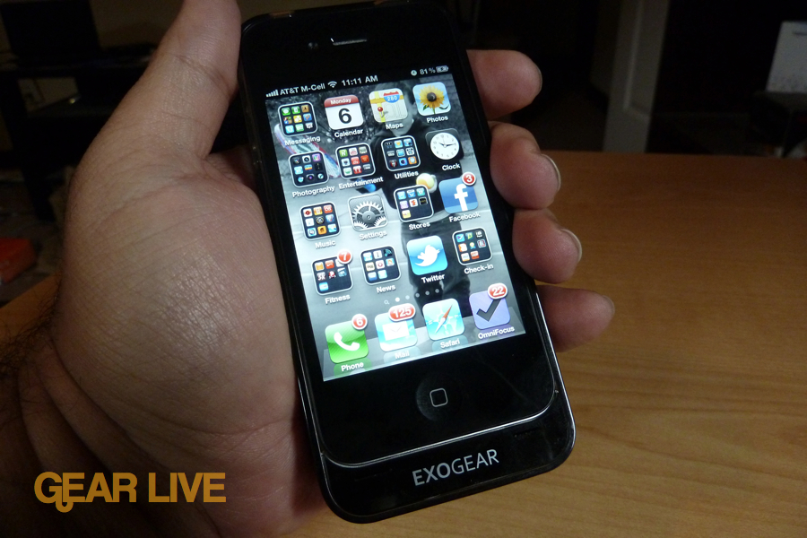 Exogear Exolife iPhone 4 battery case hands-on