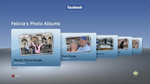 Facebook Xbox 360 Photo Albums