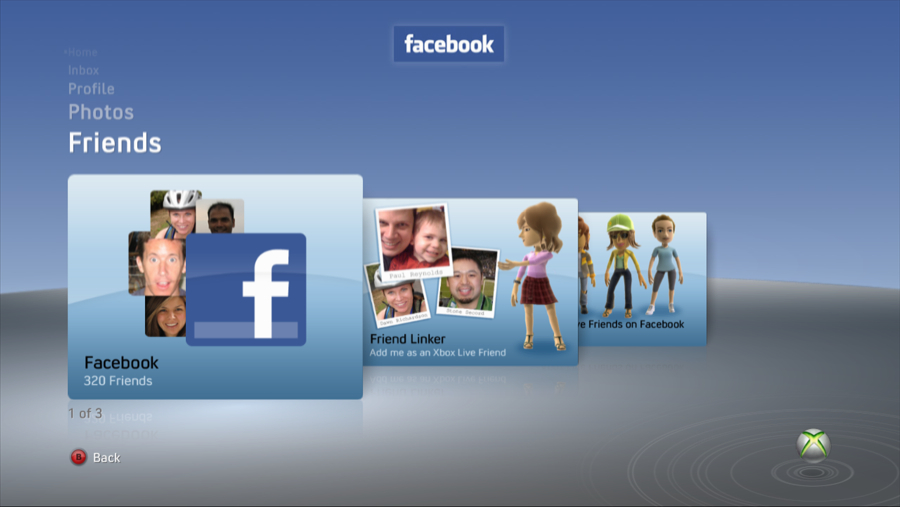 Facebook Friends on Xbox 360