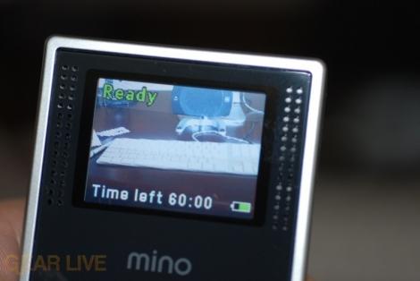 Flip Mino video screen
