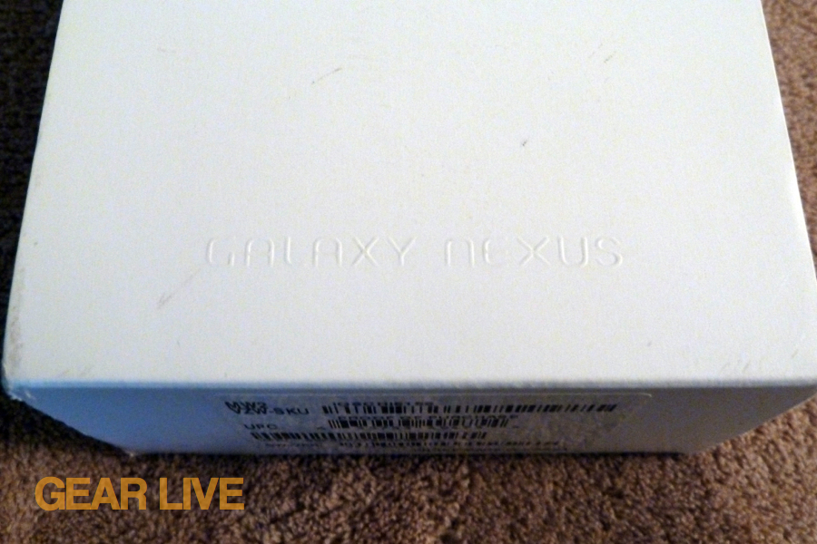 Galaxy Nexus logo on box