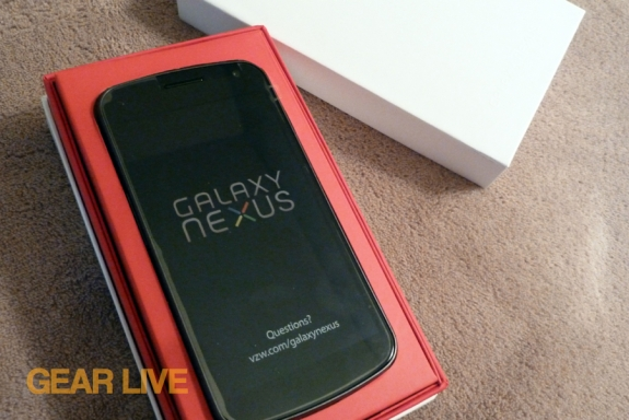Galaxy Nexus in the box