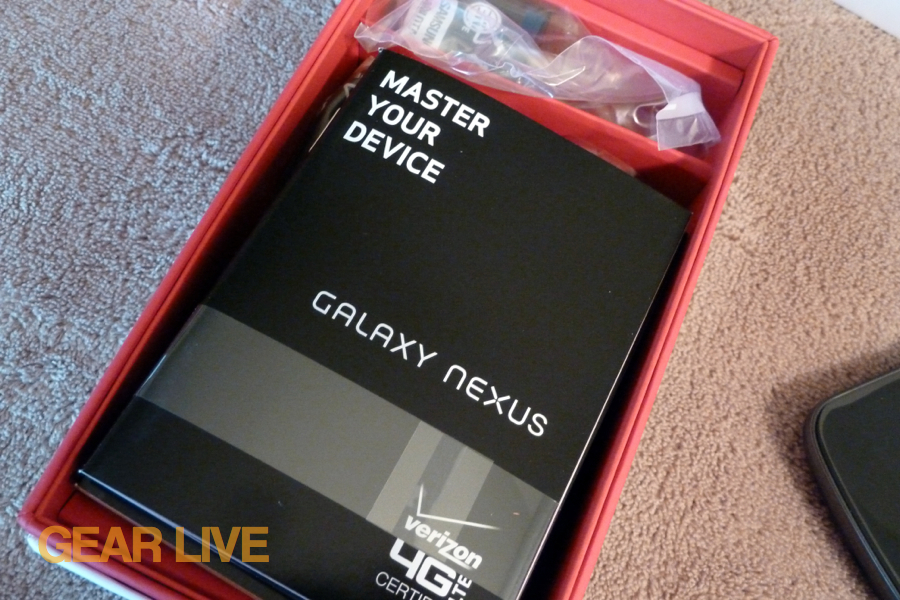 Galaxy Nexus included accessories