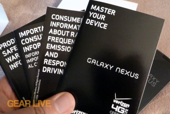 Galaxy Nexus instruction manual