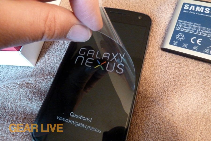 Peeling Galaxy Nexus plastic