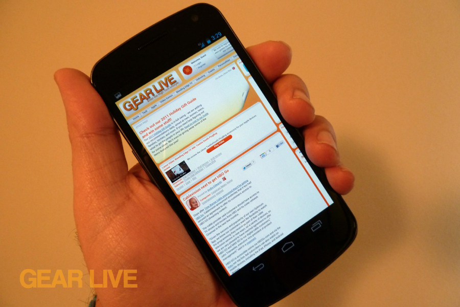 Galaxy Nexus web browser