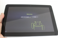 Samsung Galaxy Tab 10.1 powered on