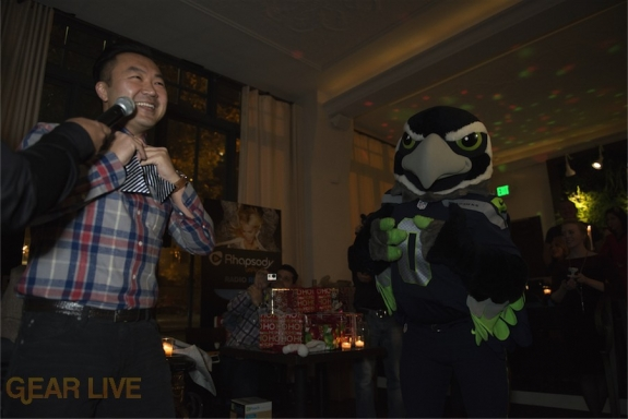 Blitz the Seahawk and Drew Morrison