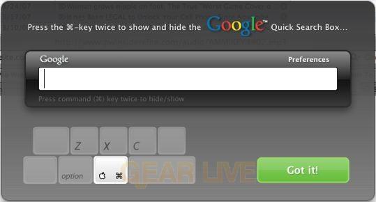 Google Desktop for Mac Interface
