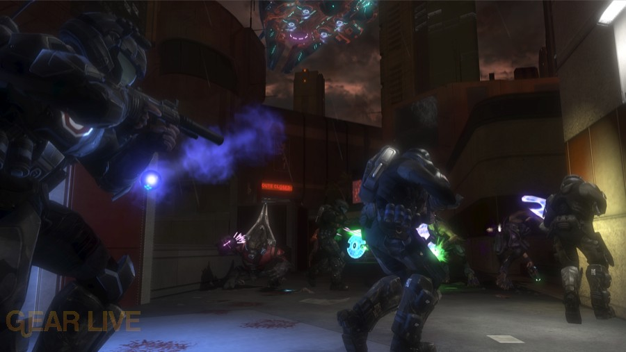 Halo 3: ODST Crater (Night) Firefight Map 2