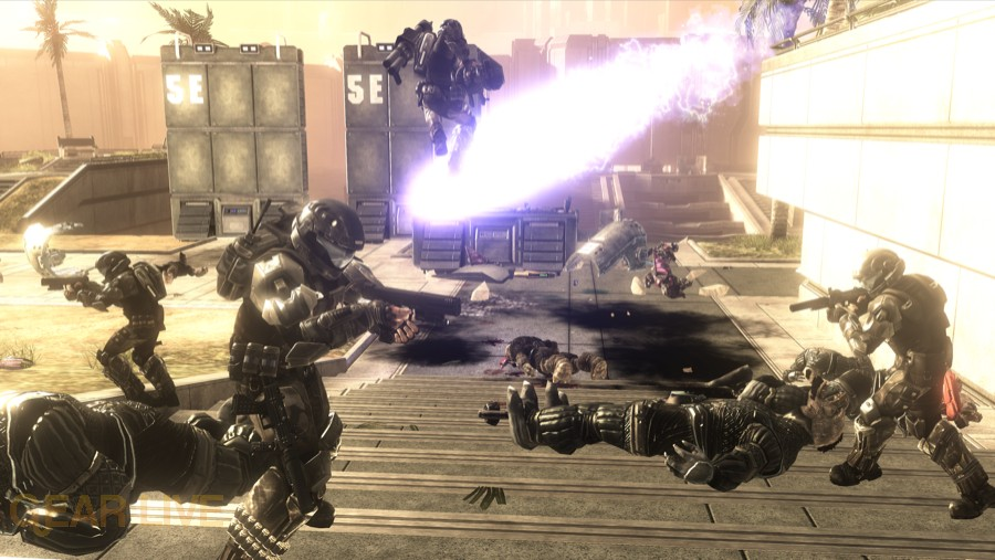 Halo 3: ODST Security Zone Firefight Map 6