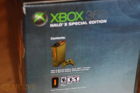 Contents of Xbox 360 Halo 3 Special Edition