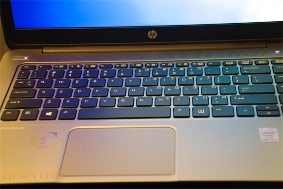 HP EliteBook Folio 1040 G1 keyboard and trackpad