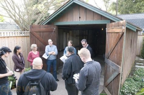 HP Garage tour group