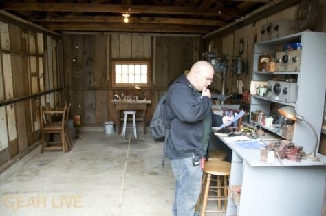 Andru Edwards in HP Garage