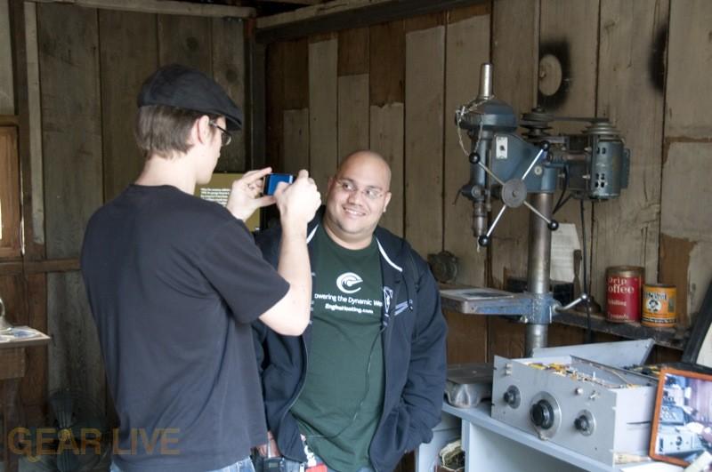Jesse and Andru enjoying the HP Garage
