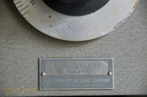 Audio oscillator 200A in HP Garage