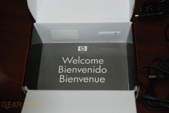 HP iPaq 914 box welcome message