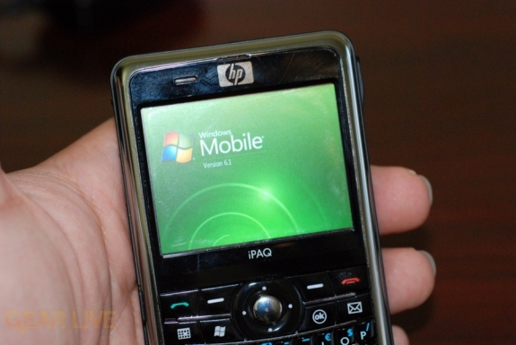 HP iPaq 914 Windows Mobile screen