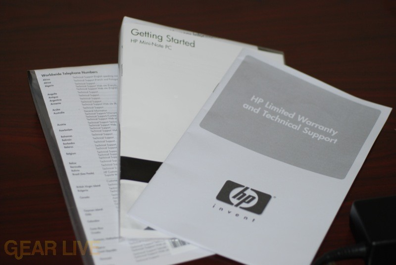 HP Mini-Note instruction manuals