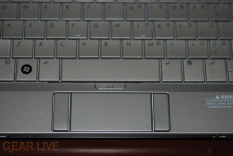 HP Mini-Note trackpad