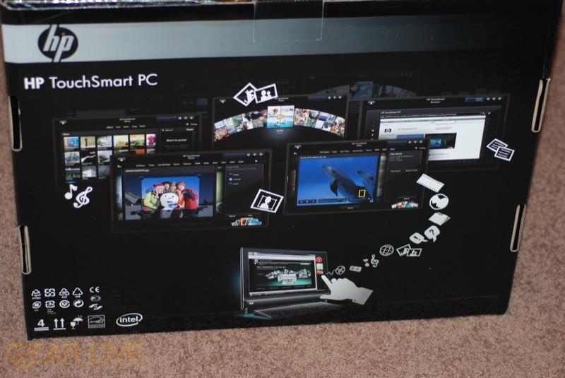 HP TouchSmart PC box back