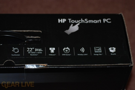 HP TouchSmart PC box stats