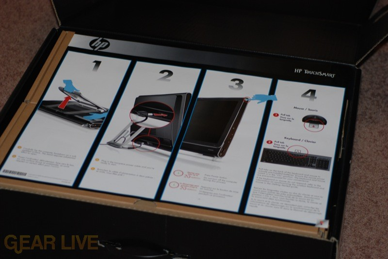 HP TouchSmart setup poster