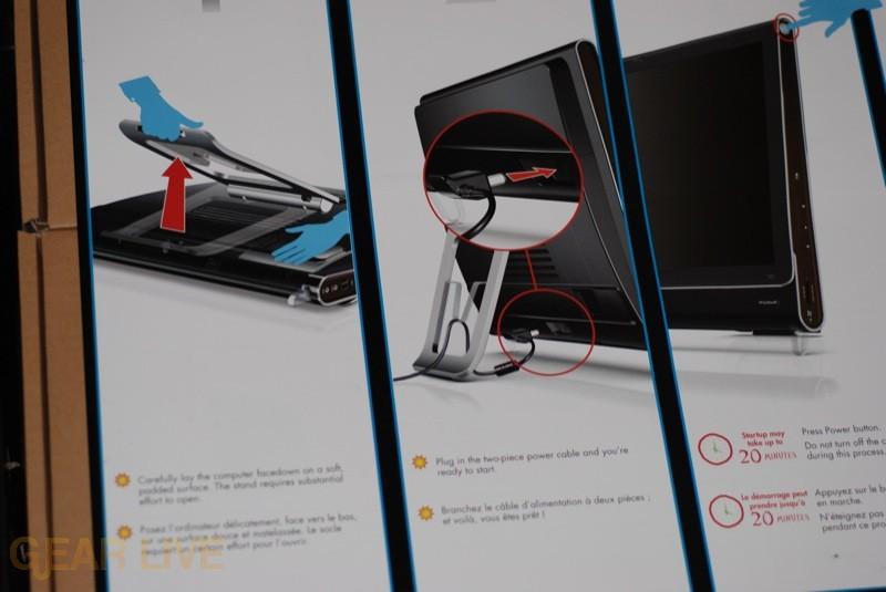 HP TouchSmart setup poster 2