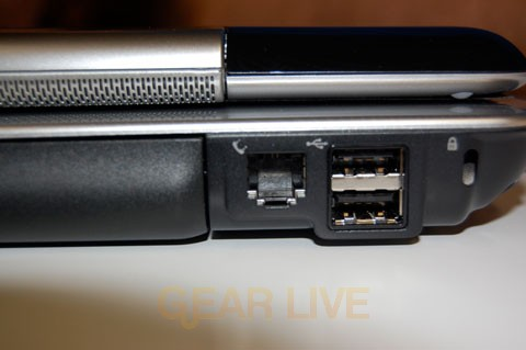 Phone Jack and USB 2.0 Ports