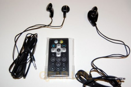 TX1000 Remote and Earbuds