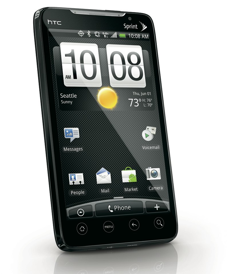 Sprint HTC EVO 4G smartphone left