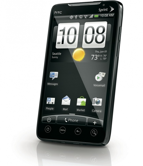 Sprint HTC EVO 4G smartphone right