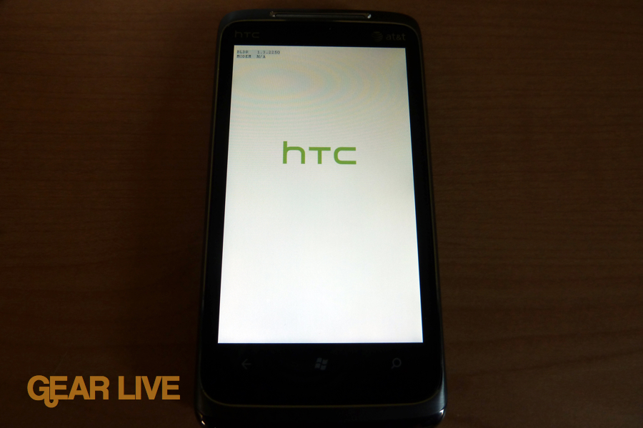 HTC Surround boot up