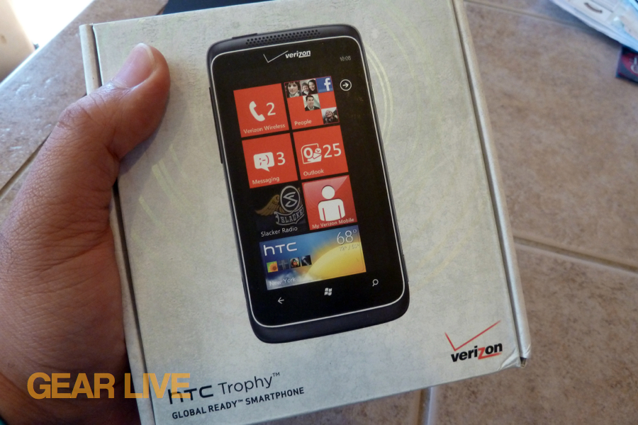 HTC Trophy box