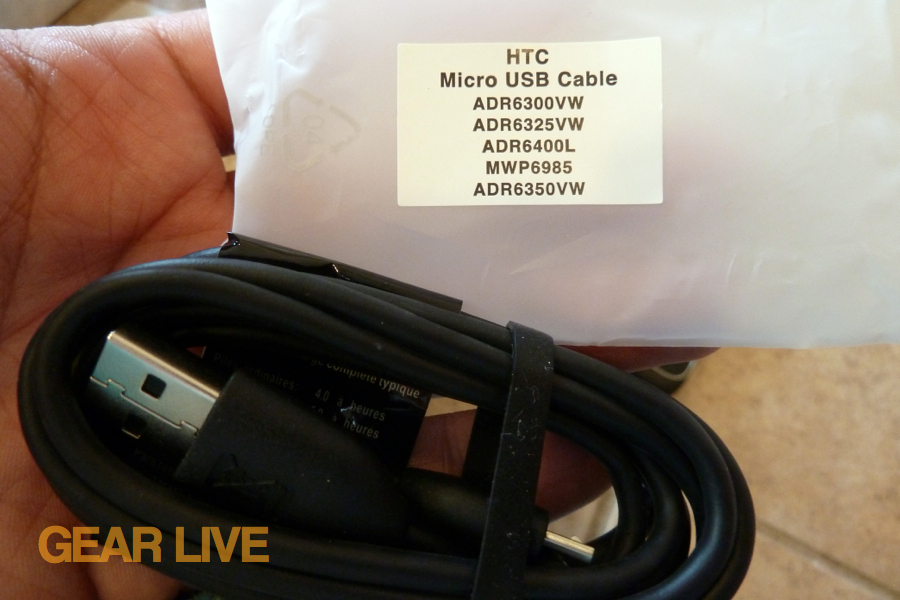 HTC Trophy micro USB cable