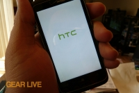 HTC Trophy powered on