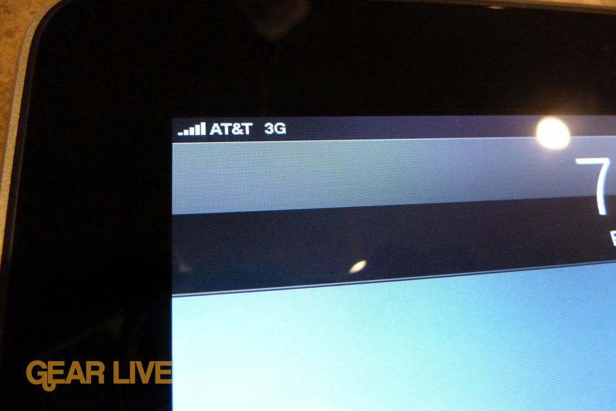 iPad 3G AT&T 3G status bar