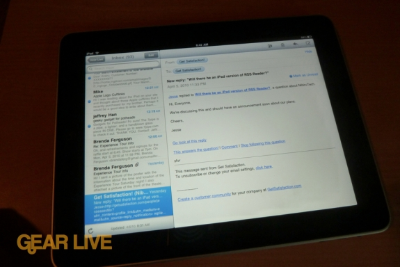 iPad apps: Mail