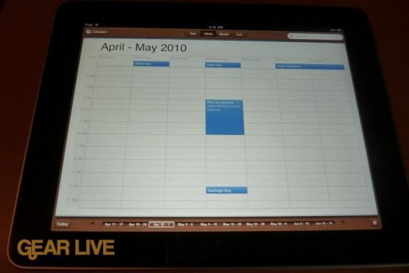 iPad apps: Calendar