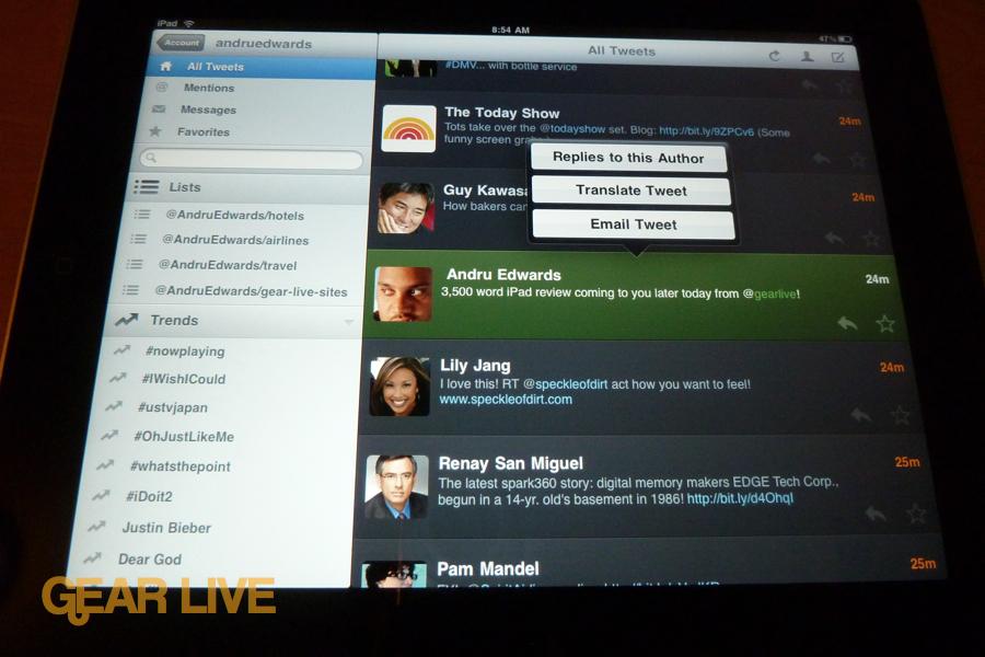 iPad apps: Twitterific