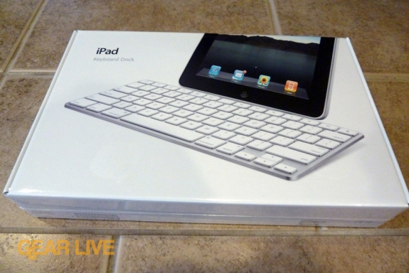 iPad Keyboard Dock front of box. While the iPad launched on April 3,